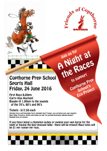A night at the Races Poster and Booking