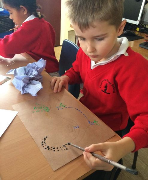 Copthorne Pre-prep Year 2 - Aboriginal Painting - March 2017