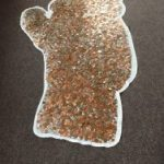Copthorne Pre-prep Pudsey Bear covered in coins