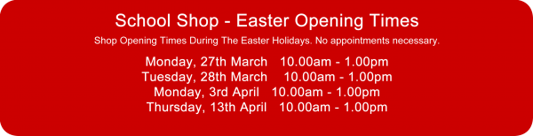 Copthorne Prep School - School Shop Easter Opening Times 2017