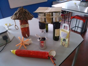 Useful object from waste materials