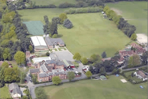 Copthorne Prep School aerial view of the school